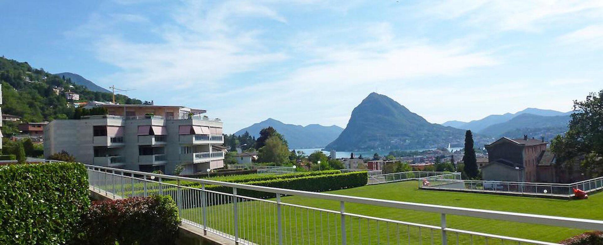 Pregassona a due passi dal centro con splendida vista lago e montagne circostanti